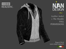 .:Nian Design:.072 Biker Leather Jacket with Hoodie Sweatshirt FULL PERMISSIONS