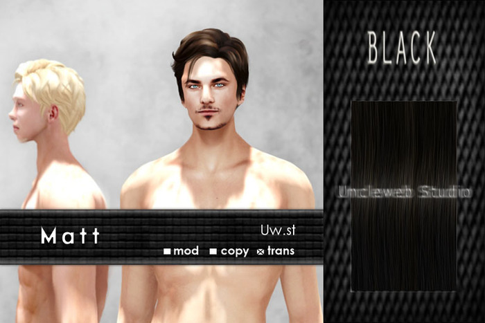 Uw.st   Matt-Hair  Black