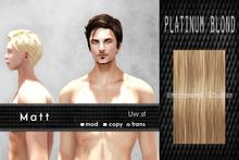 Uw.st   Matt-Hair  Platinum blond