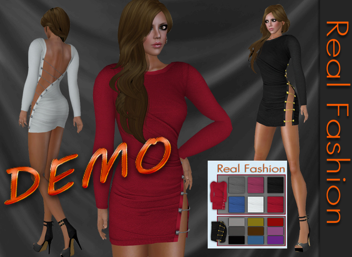REAL FASHION Cutout mini dress DEMO