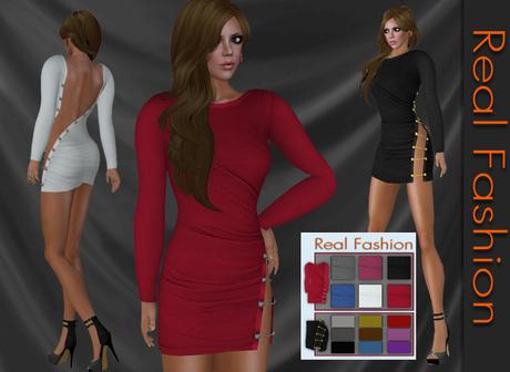 REAL FASHION Cutout mini dress