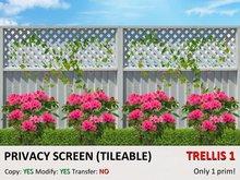*DQ* PRIVACY SCREEN - TRELLIS 1 (COPY/MOD/TILEABLE)