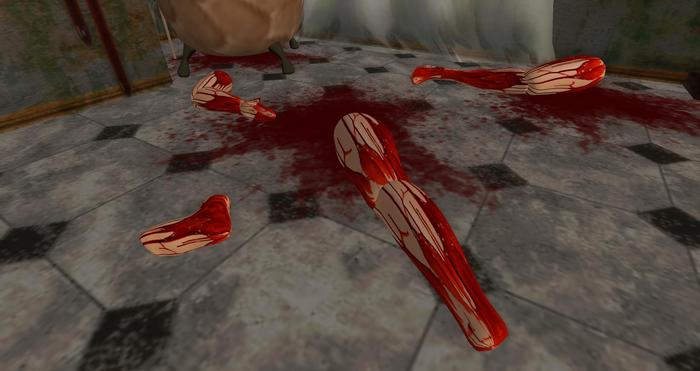 Bloody Body Legs and Arms parts