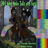 [AD] Wee-Neko Fluffed Tails and Ears-Rainbow