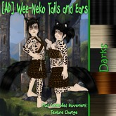 [AD] Wee-Neko Fluffed Tails and Ears-Darks