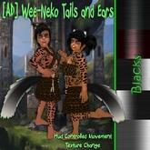[AD] Wee-Neko Fluffed Tails and Ears-Blacks
