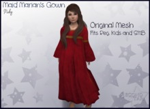 Maid Marian's Gown - Ruby