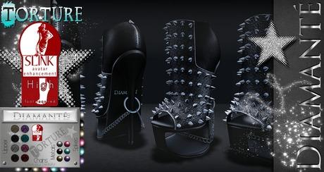 :Diamante: Torture - High Feet - Rigged