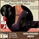 Freya's Finest SLink Mid MESH Spider & Web Shoes