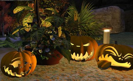 e'lans Mesh Halloween Pumpkin Arrangement  (boxed)