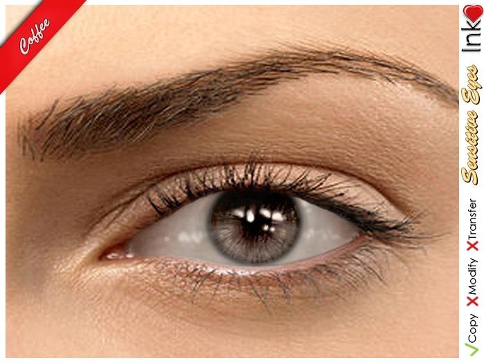 * Inkheart * - Sensitive Eyes - Coffee  (3 Sizes)