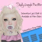 Candii Kitten - Skully Princess Dangle Paci - Pink