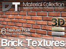 6 Brick Wall Textures - Full Perm - DT Material Collection