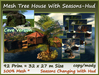 Mesh Tree House and Cave With Seasons-Hud 92 Prim 32x27m Size