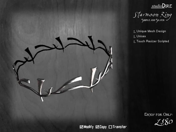 /studioDire/ Starmoon Ring - Simple/Silver