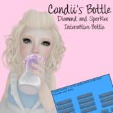 Candii Kitten- *Pink* Candii's Diamond Interactive Custom Hold Bottle