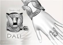 [CERES] Dali Bangle+Ring - Silver