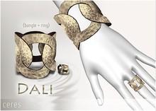 [CERES] Dali Bangle+Ring - Oxidized Silver