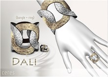 [CERES] Dali Bangle+Ring - Mixed Silver Limited Time Promo