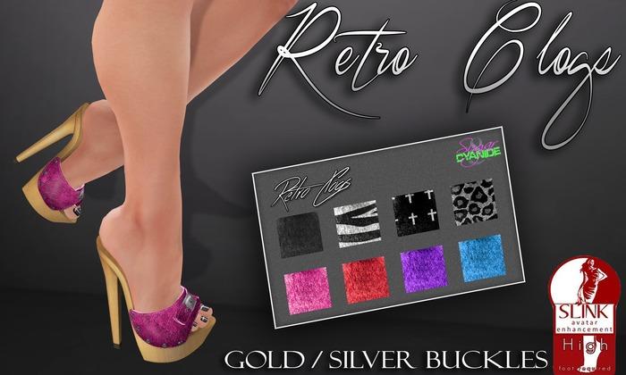 .S&C. Retro Clogs for Slink High heels