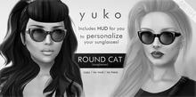 YUKO // Round Cat Sunglasses / DEMO (MESH)