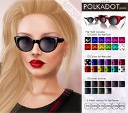 YUKO // Round Cat Sunglasses / Polkadot Pack (MESH)