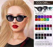 YUKO // Round Cat Sunglasses / Colors Pack (MESH)