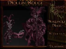 NSP Moulin Rouge Burlesque Mask (Burgundy) boxed