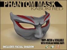 Phantom Mask - Kabuki Red
