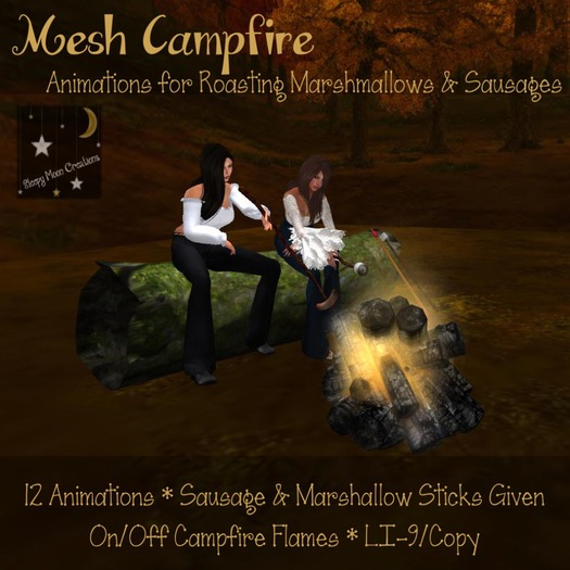 Mesh campfire with roasting marshmellows (boxed)
