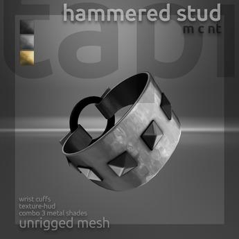 tapi :: hammered stud cuffs