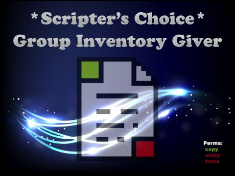 *SC* Group Inventory Giver