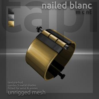 tapi :: nailed blanc cuffs