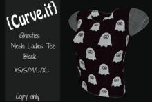 Ghosties Black Ladies Tee Dollarbie Gift