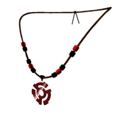 Seth Regan Logo Necklace Red/Black