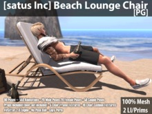 [satus Inc] Beach Lounge Chair [PG] ~ Only 2 Prims