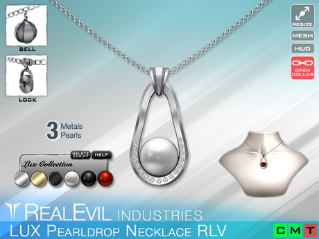 **RE** LUX Pearldrop Necklace RLV * MESH * (**LUX** Collection)