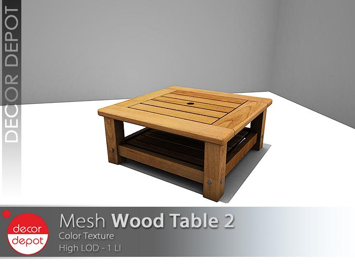 [DD] - FULL PERM  Wood Table 2