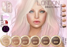 - LOUX - LIMITED EDITION - London all tones + themeshproject appliers + slink physique,hands and feet appliers