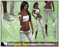 **SD** -Lola cheerleader - ( Mesh Outfit ) mesh Shoes White