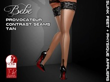 Bebe Stockings Provocateur Tan for SLINK Physique + Feet