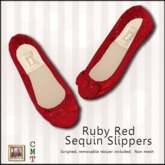 ::Duh!::Sequin Flats - Red
