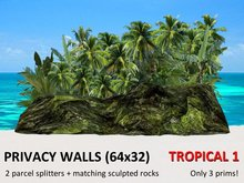 *DQ* PRIVACY WALLS - TROPICAL 1 (64x32) - only 3 prims!