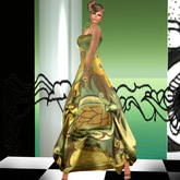 ALB CARIBA gown + HUD heels - MESH by AnaLee Balut