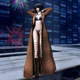 ALB ANTJE mesh coat leather - wearable Demo by AnaLee Balut - ALB DREAM FASHION