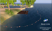 *Lok's* Buoy Line - 6 l.i. - for Lake, Pier, Water, Pool, Beach, Swimming Areas Water Decoration Beach Sim
