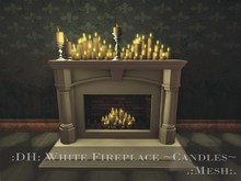 :DH: White Fireplace ~Candles~