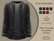 .Atelier. Ash Hoodie Sweater Grey HUD Driven
