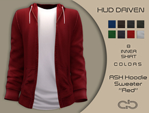.Atelier. Ash Hoodie Sweater Red HUD Driven