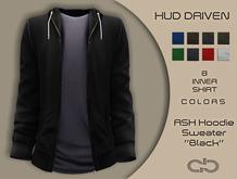.Atelier. Ash Hoodie Sweater Black HUD Driven